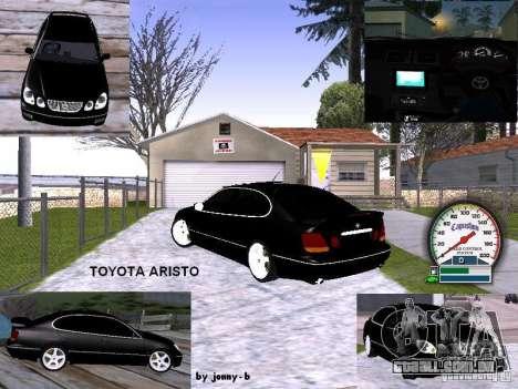 TOYOTA ARISTO 2001 ano para vista lateral GTA San Andreas