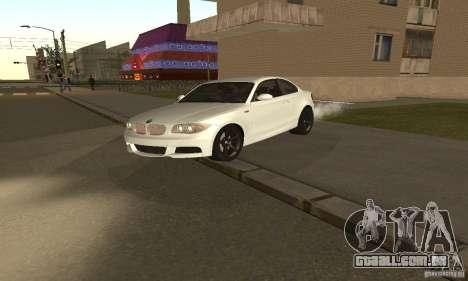BMW 135i Coupé para GTA San Andreas esquerda vista
