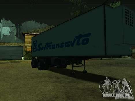 Recipiente portador + Sovtransavto para GTA San Andreas vista direita