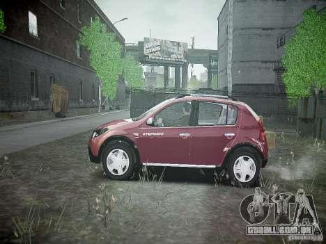 Dacia Sandero Stepway para GTA 4 esquerda vista