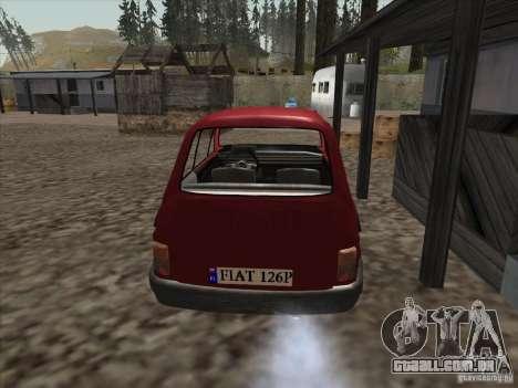 Fiat 126p Elegant para GTA San Andreas traseira esquerda vista