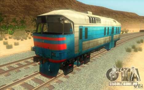 Um trem do jogo Half-Life 2 para GTA San Andreas esquerda vista