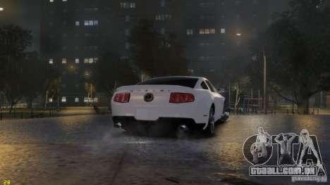 Ford Shelby Mustang GT500 2011 v2.0 para GTA 4 vista superior