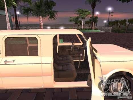 ZAZ 968M Limousine para GTA San Andreas traseira esquerda vista