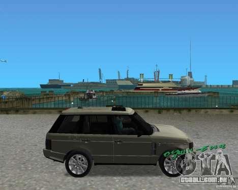 Rang Rover 2010 para GTA Vice City vista direita