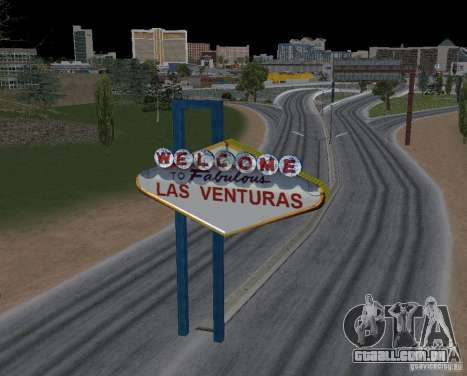 Real New Vegas v1 para GTA San Andreas terceira tela