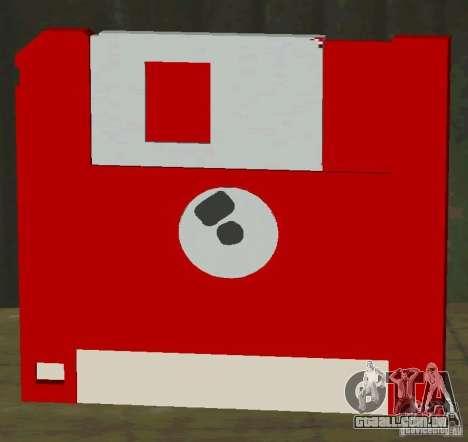 Novo HD disquete salvar para GTA San Andreas segunda tela
