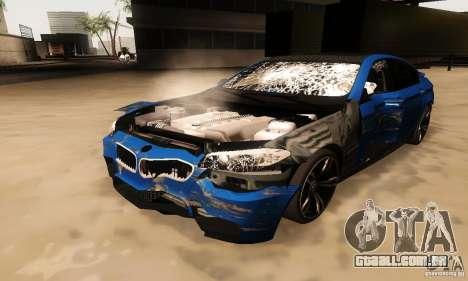 BMW M5 F10 2012 para GTA San Andreas vista interior