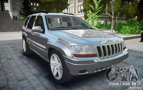 Jeep Grand Cheroke para GTA 4 vista direita