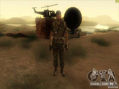 Frank Woods para GTA San Andreas sexta tela