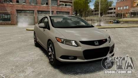 Honda Civic Si Coupe 2012 para GTA 4