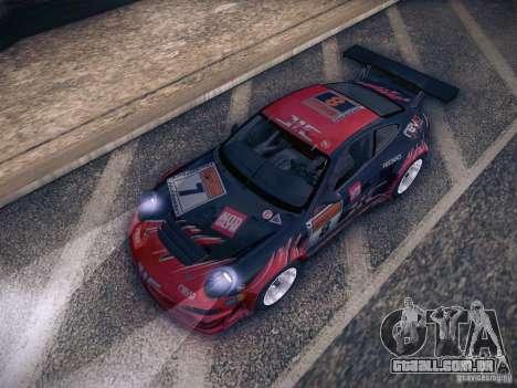 Porsche 997 GT3 RSR para GTA San Andreas vista inferior