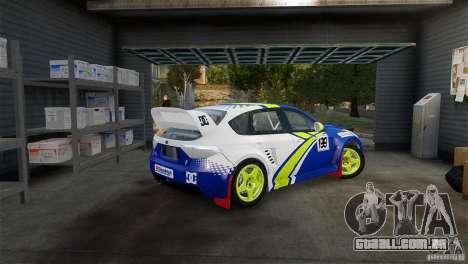 Subaru Impreza WRX STI Rallycross BFGoodric para GTA 4 esquerda vista