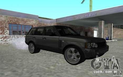 Land Rover Supercharged para GTA San Andreas vista traseira