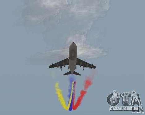 Multi colorido tiras para aeronaves para GTA San Andreas por diante tela