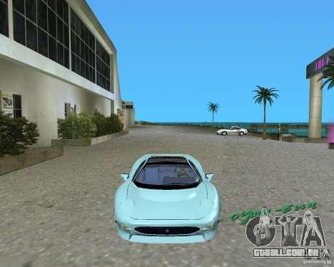 Jaguar XJ220 para GTA Vice City deixou vista