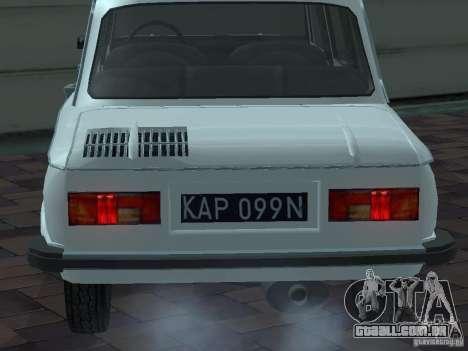 ZAZ 968M Limousine para vista lateral GTA San Andreas