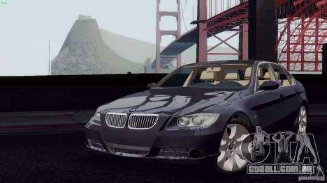 BMW 330i e90 para GTA San Andreas vista direita