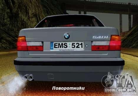 BMW E34 540i Tunable para o motor de GTA San Andreas
