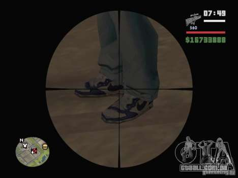 Blue Nike Air Force para GTA San Andreas segunda tela