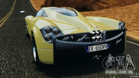 Pagani Huayra 2011 v1.0 [EPM] para GTA 4 traseira esquerda vista