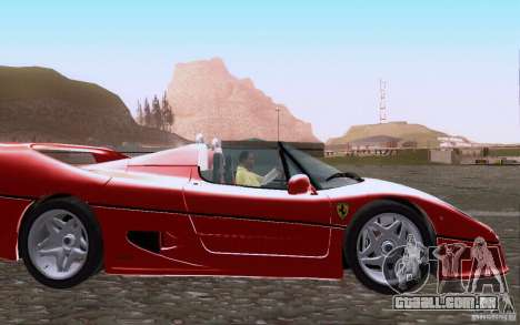 Ferrari F50 v1.0.0 1995 para GTA San Andreas vista interior