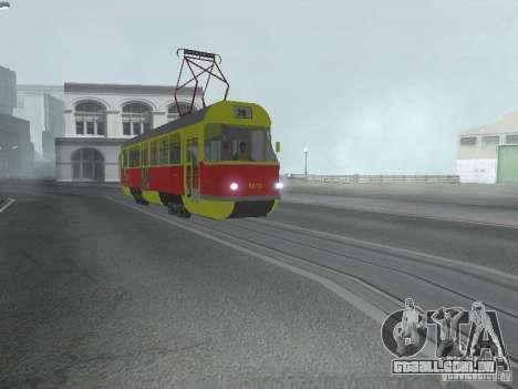 Tatra T3SU para GTA San Andreas esquerda vista