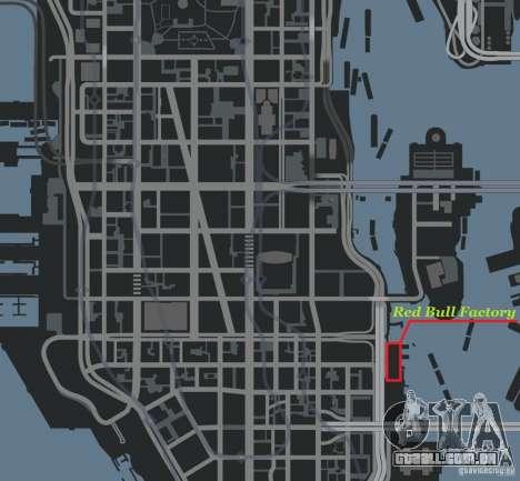 Red Bull Factory para GTA 4 sexto tela
