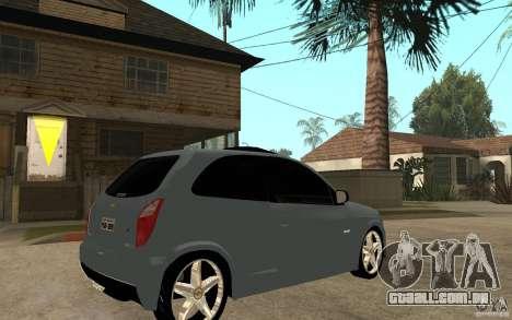 Chevrolet Celta VHC 2011 para GTA San Andreas vista direita