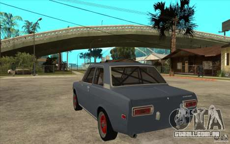 Datsun 510 JDM Style para GTA San Andreas traseira esquerda vista