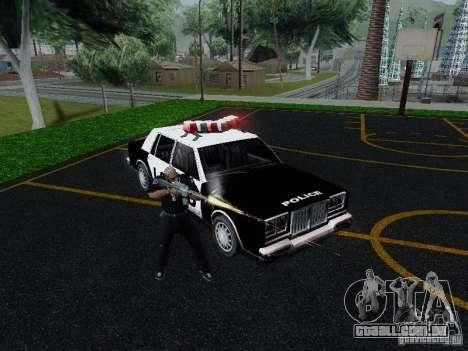 Greenwood Police LS para GTA San Andreas vista traseira