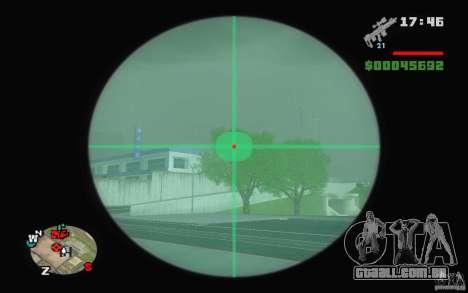 Um rifle sniper de um Ballad of Gay Tony para GTA San Andreas segunda tela