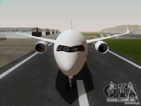 Airbus A350-900 Emirates para GTA San Andreas traseira esquerda vista