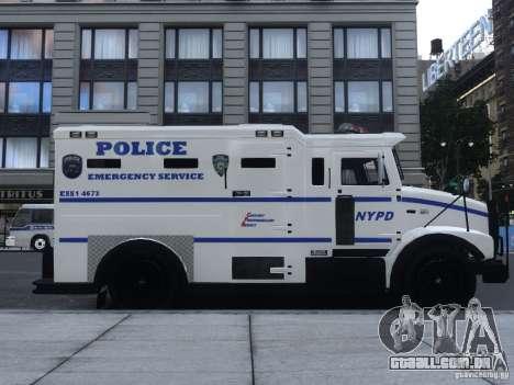 Enforcer Emergency Service NYPD para GTA 4 traseira esquerda vista