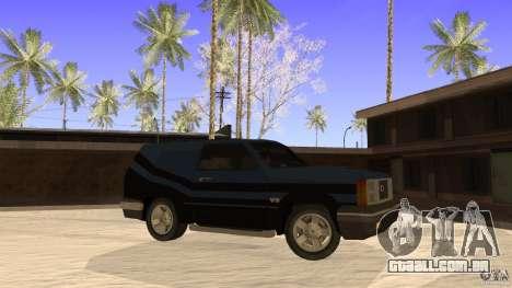 Sandking EX V8 Turbo para GTA San Andreas esquerda vista