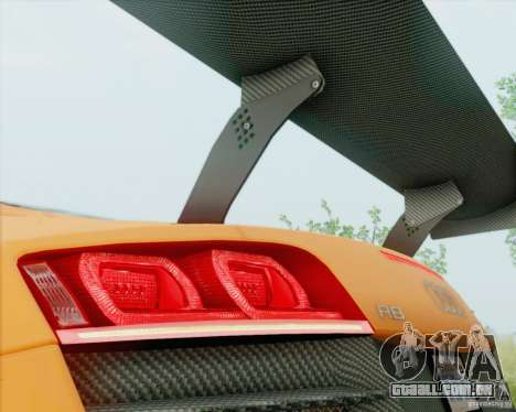 Audi R8 LMS GT3 para GTA San Andreas vista direita