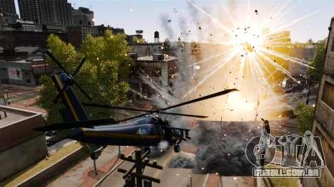 Um helicóptero com um RPG para GTA 4 vista direita