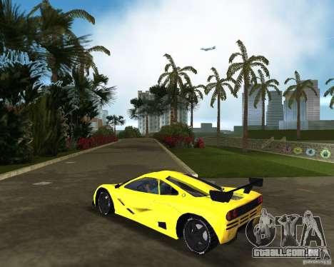 McLaren F1 LM para GTA Vice City deixou vista