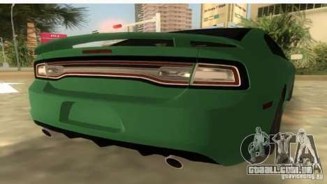 Dodge Charger para GTA Vice City deixou vista