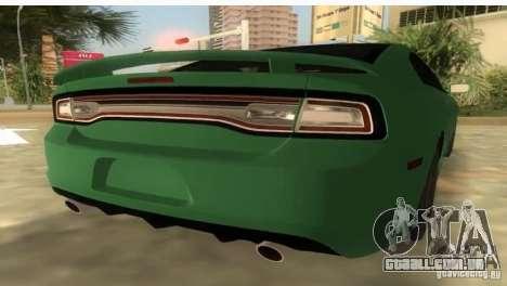 Dodge Charger para GTA Vice City deixou vista