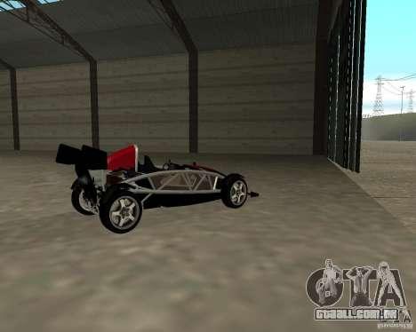 Ariel Atom V8 para GTA San Andreas traseira esquerda vista