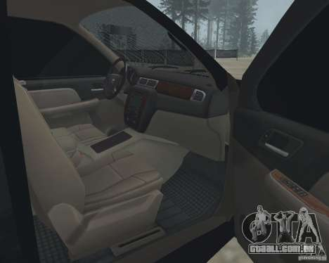 Chevrolet Tahoe BLACK EDITION para GTA San Andreas vista interior