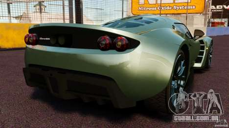 Hennessey Venom GT 2010 [EPM] para GTA 4 traseira esquerda vista
