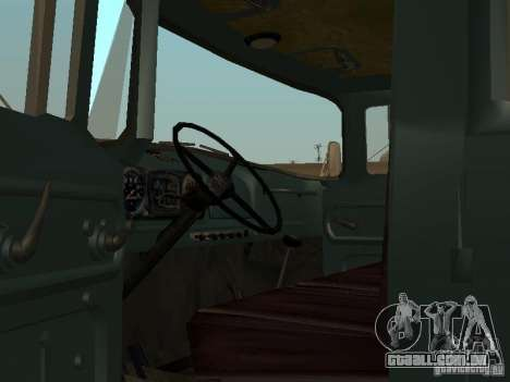 ZIL 130 cabine dupla para GTA San Andreas vista direita