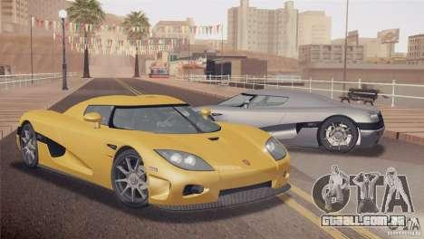 Koenigsegg CCX 2006 v2.0.0 para GTA San Andreas traseira esquerda vista