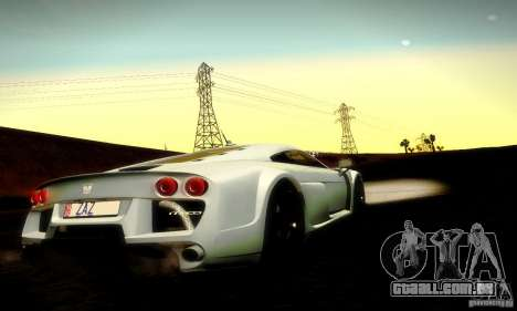 Noble M600 Final para GTA San Andreas vista superior