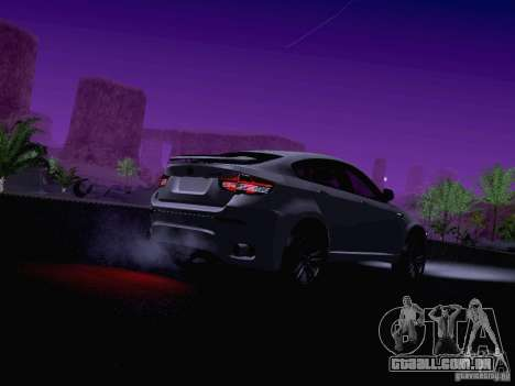 BMW X6 LT para GTA San Andreas vista inferior