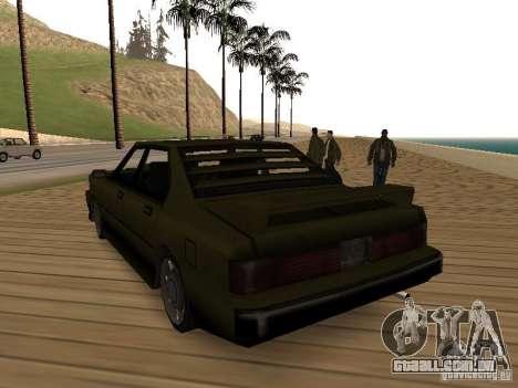 Sentinel XS para GTA San Andreas traseira esquerda vista