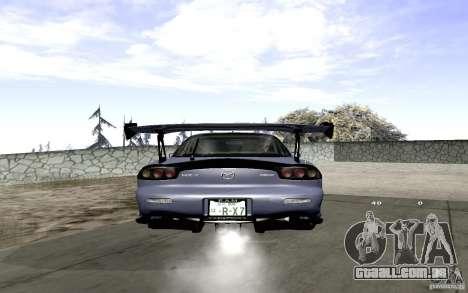 Mazda RX-7 Hellalush para GTA San Andreas vista traseira