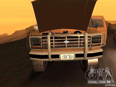 Ford Bronco 1985 para GTA San Andreas traseira esquerda vista